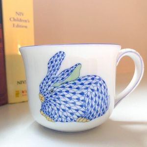 Authentic Herend bunny rabbit tea cup or mug